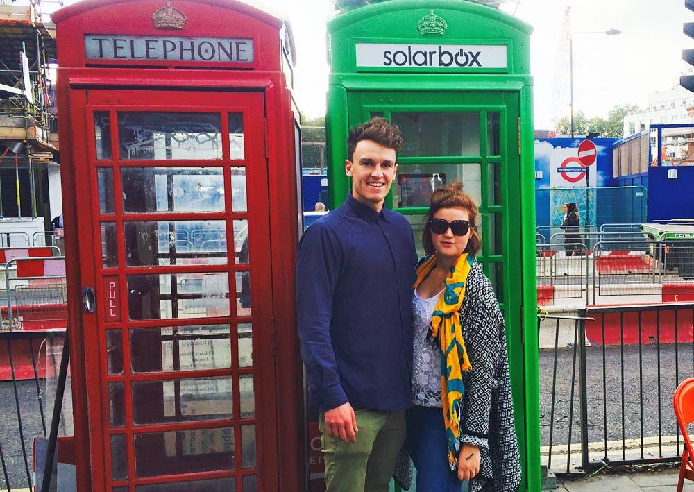 Londons gröna telefonkiosk